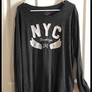 Old navy long sleeve shirt size XXL gray